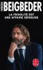 Beigbeder : La frivolité est une affaire sérieuse