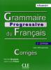 Avancé - Grammaire progressive du Français avec 400 exercices - niveau avancé - Les corrigés