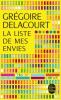 Delacourt : La liste de mes envie