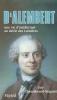 Chaussinand-Nogaret : D'Alembert - Une vie d'intellectuel au siècle des Lumières