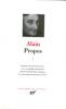 Alain : Propos 1 (1906-1936)