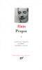 Alain : Propos 2 (1906-1936)