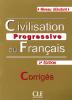 Civilisation progressive du Français - Débutant - 2e édition - corrigés