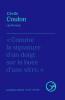 Coulon : Ronces. poésie