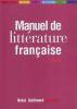 Manuel de littérature française