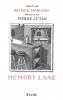 Modiano : Memory Lane