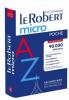 Dictionnaire : Le Robert Micro poche