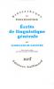 Saussure : Ecrits de linguistique générale