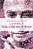 Schaeffer : Lettre à Roland Barthes