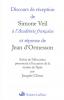 Veil : Discours de réception à l'Académie Française
