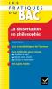 Cerqueira : Les pratiques du BAC - La dissertation en philosophie